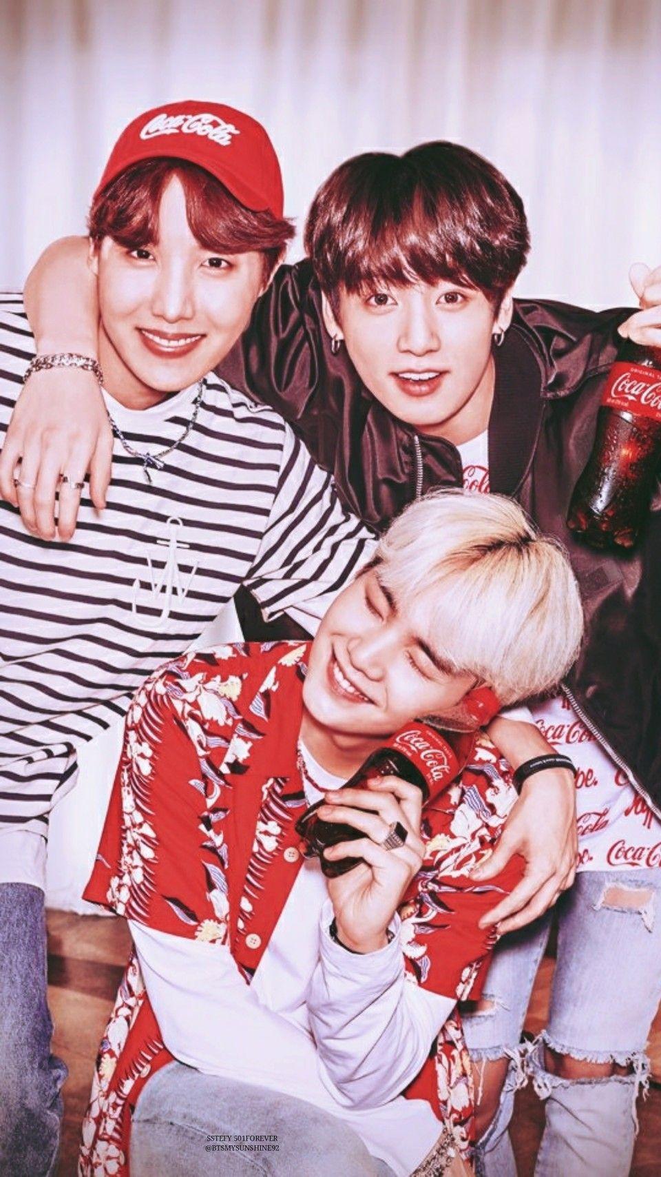 Jhope Jungkook Suga Bts X Coca Cola Lockscreen Wallpapers