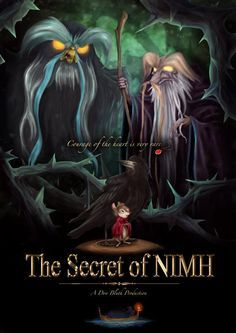 A poster for The Secret of NIMH movie Digital Illustration Assignment for university Photoshop.