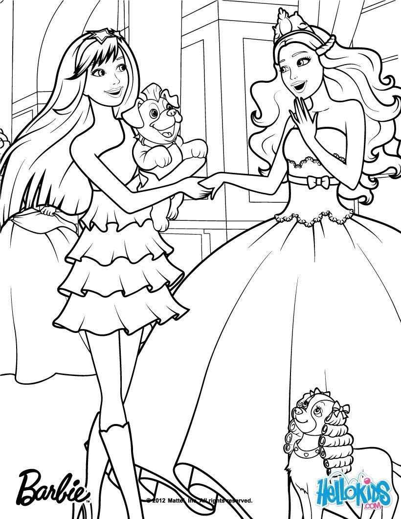 coloring pages of barbie princess and the popstar coloring pages