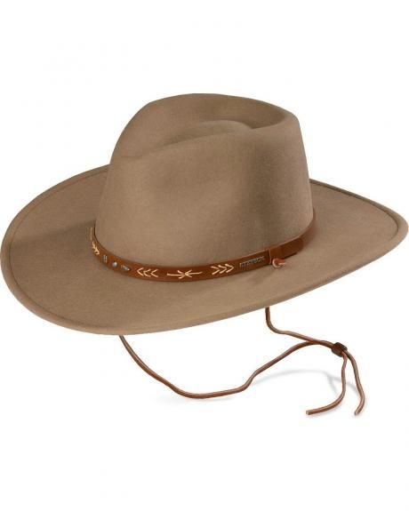 e8e2d5aeff0af Stetson Santa Fe Crushable Wool Felt Hat
