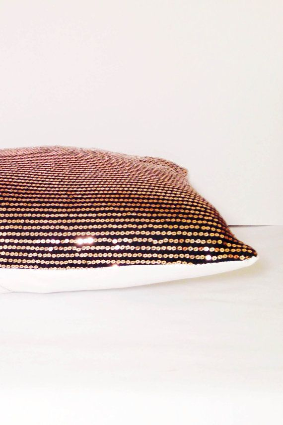 Black and Gold Sequin Decorative Throw by CEYeventsanddesign