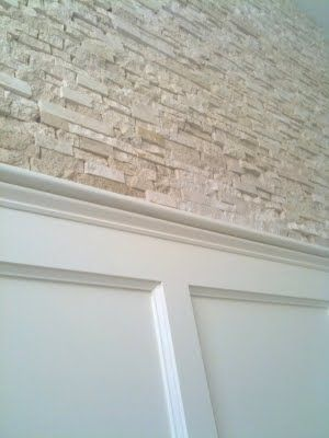 Stone Wall And Wainscoting For Basement Stairs Home Is