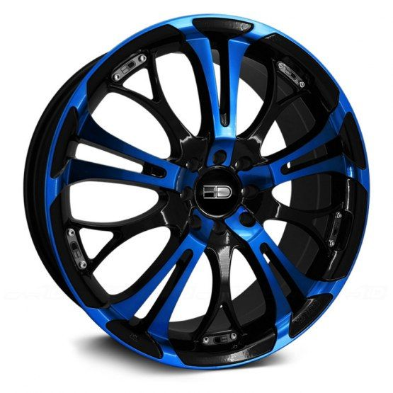 Hd Wheels Spinout Gloss Black With Blue Face Pink Rims Pink