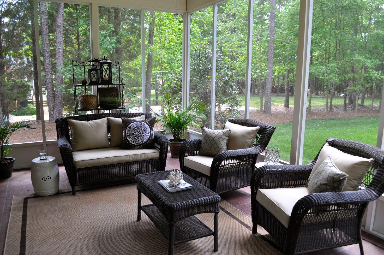 sams patio furniture in screened porch