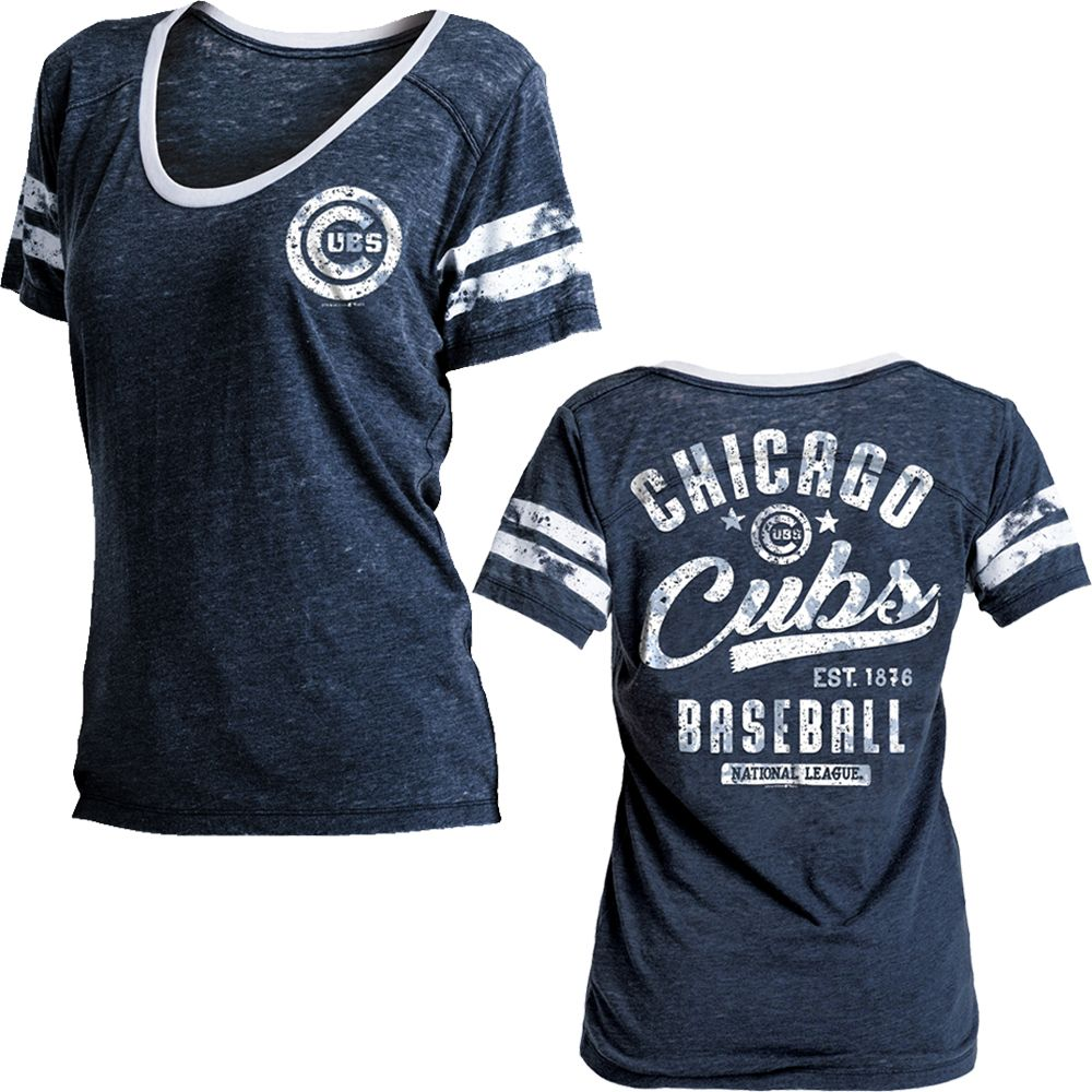 brand new a1aee 1b42b Chicago Cubs Women's Burnout Washed Jersey Shirt by New Era ...