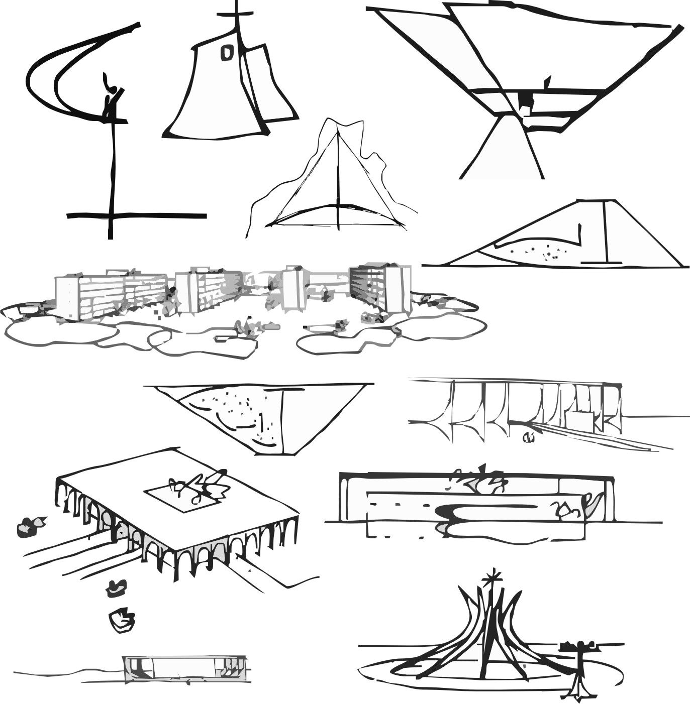 "Rest in peace ""boss"" Oscar Niemeyer 1908 2012 architect sketches Pinterest"