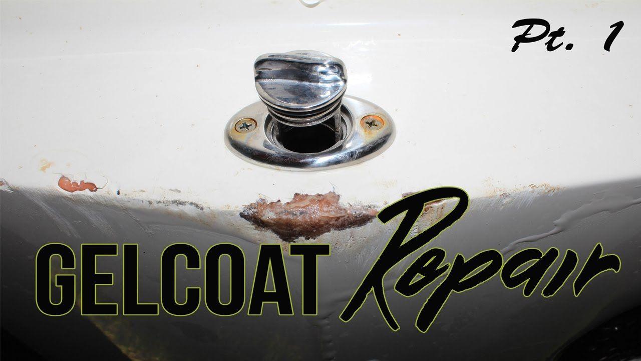 Boat fiberglass gelcoat repair part 1 boat fiberglass