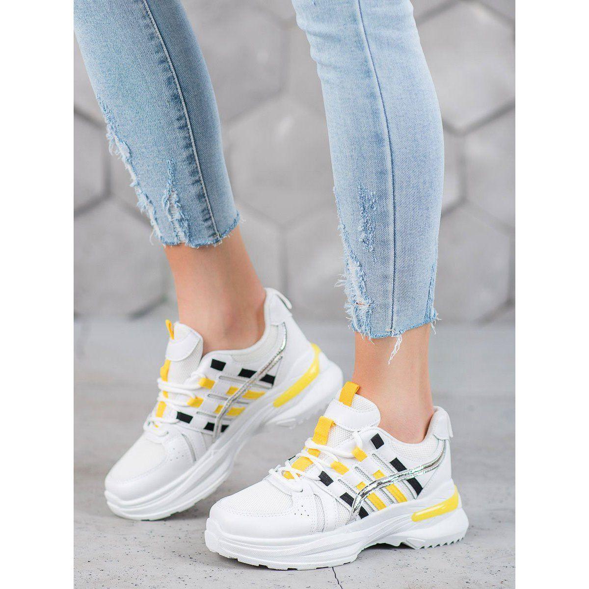 Shelovet Modne Buty Sportowe Na Platformie Biale Air Max Sneakers Sneakers Nike Sneakers