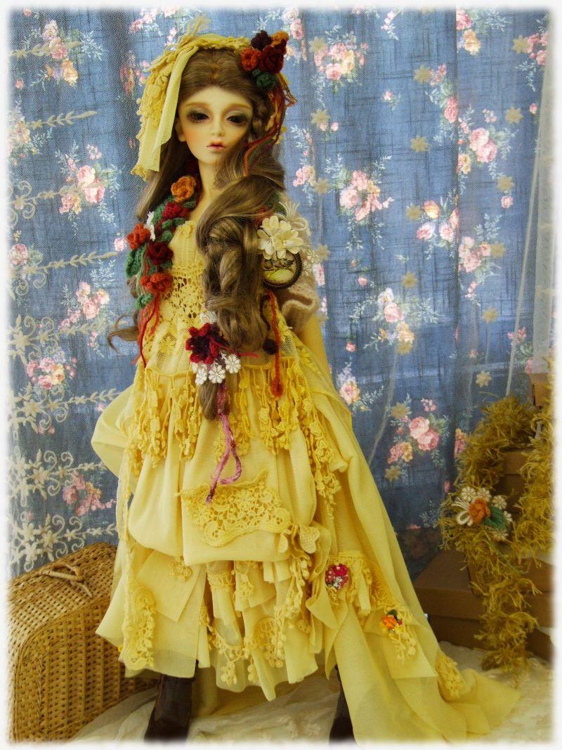 fashion design ospirit bjd doll outfit secret garden remade