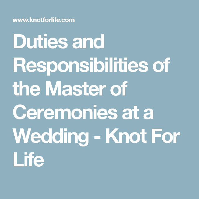 Duties Of Master Ceremonies At A Wedding Tbrb Info