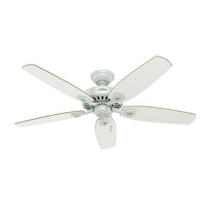 Hunter Builder Deluxe 52 In Indoor White Ceiling Fan With Light