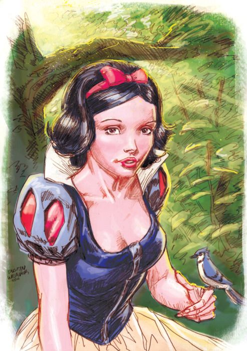 Dustin weaver artist of shield draws snow white for studios disney princess sketch challenge