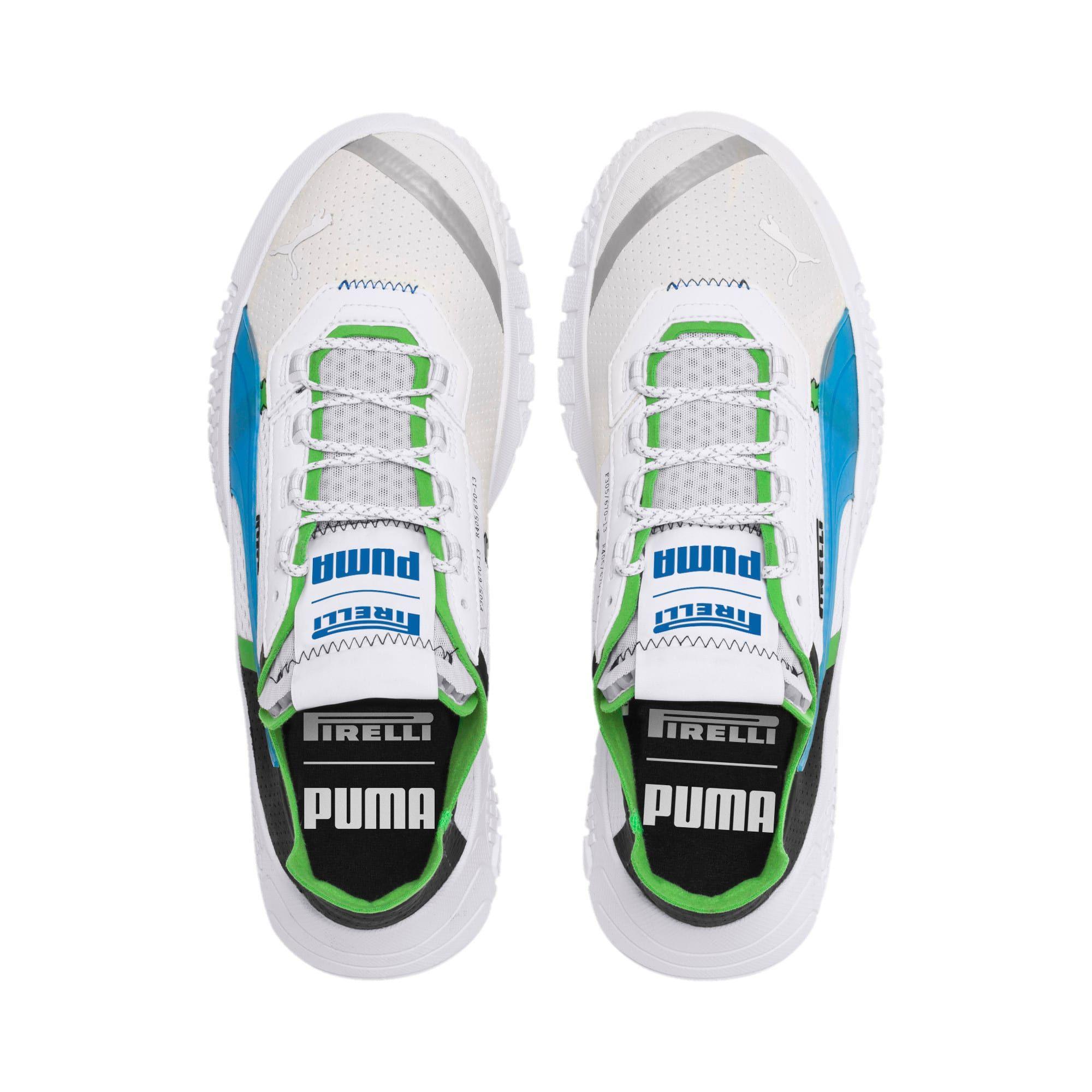 Photo of PUMA Pirelli Replicat-X Trainers,  White/Black/Classic Green, size 10.5, Shoes