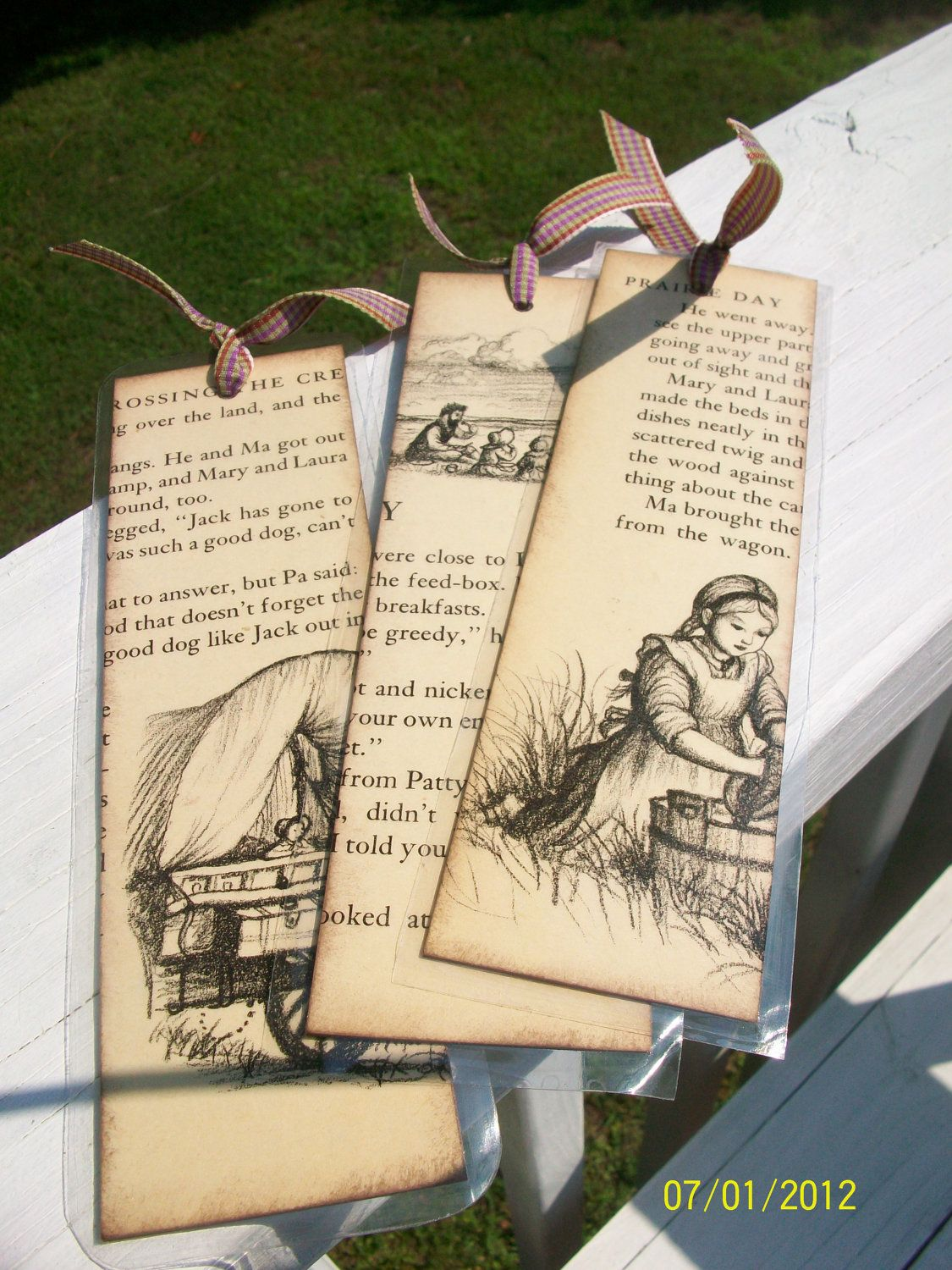 Vintage Little House On The Prairie Bookmarks Set Of 3
