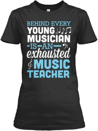 ea0a693f Exhausted Music Teacher | Music Education | Music teacher gifts ...
