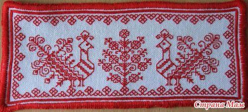 Вышивка русские птицы