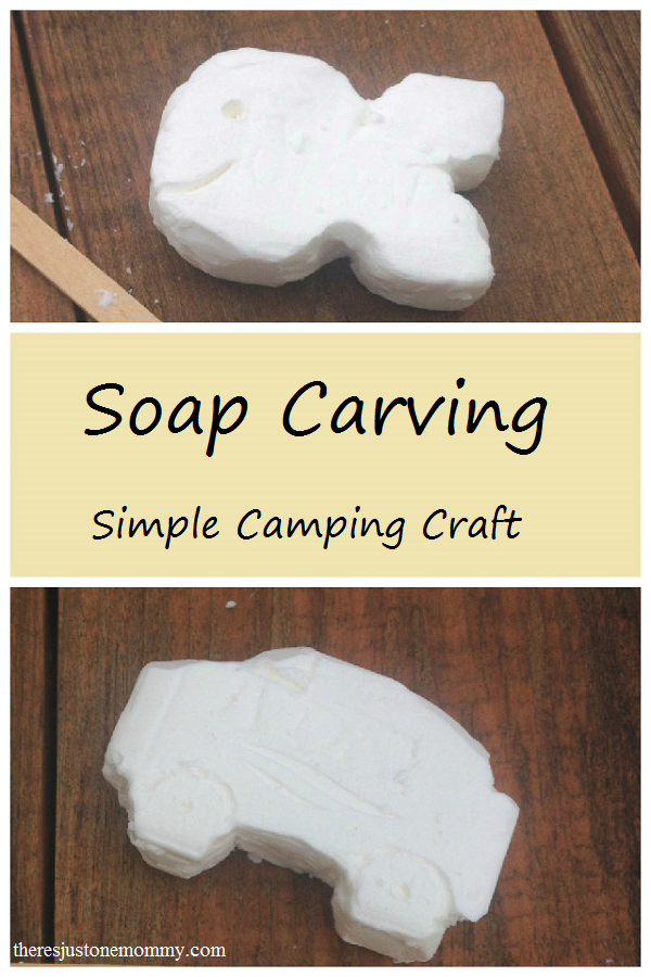 Camp craft soap carving camping and