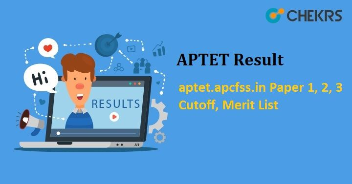 APTET Result 2018 aptet.apcfss.in Paper 1, 2, 3 Cutoff