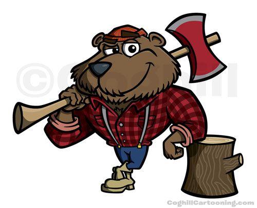 lumberjack bear cartoon theme lumberjacks pinterest bear rh pinterest co uk Lumberjack Clip Art Female Lumberjack