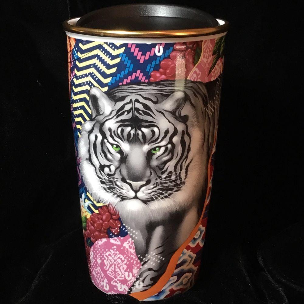 9417380a1f8 Starbucks Rare TRISTAN EATON Coffee Stories 01 Ceramic Travel Mug NWT HTF # Starbucks