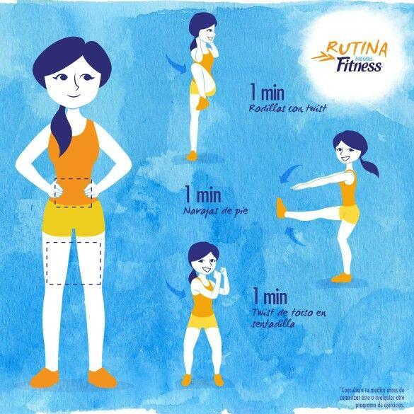 Rutina fitness ejercicios pinterest ejercicios for Rutina fitness