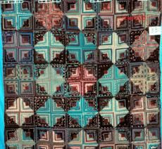 Log Cabin, Scrap  Period: 1876-1900  Location Made: United States  Project Name: Connecticut Quilt Search Project  Contributor: Connecticut Quilt Search  ID Number: 330  Quilt Size: 81 x 79  Fabrics: Cotton, Linen, Plaid, Paisley, Novelty, Geometric, Floral, Dotted, Checked, Solid/plain, Striped  Colors: Red, Brown  Construction: Hand Piecing