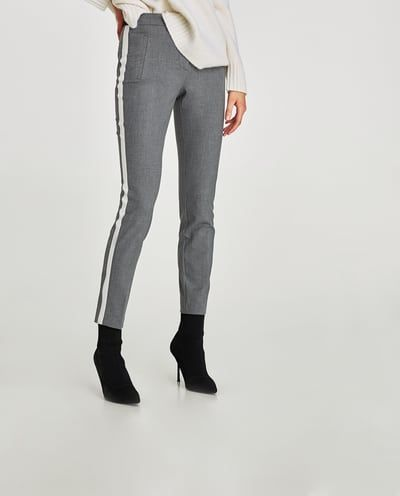 18ed4450 TROUSERS WITH SIDE STRIPE-View all-TROUSERS-WOMAN | ZARA United Kingdom