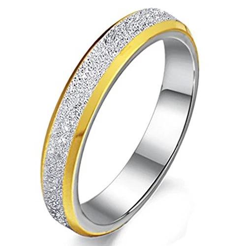 Women 3mm Stainless Steel Sand Blast Finish Ring
