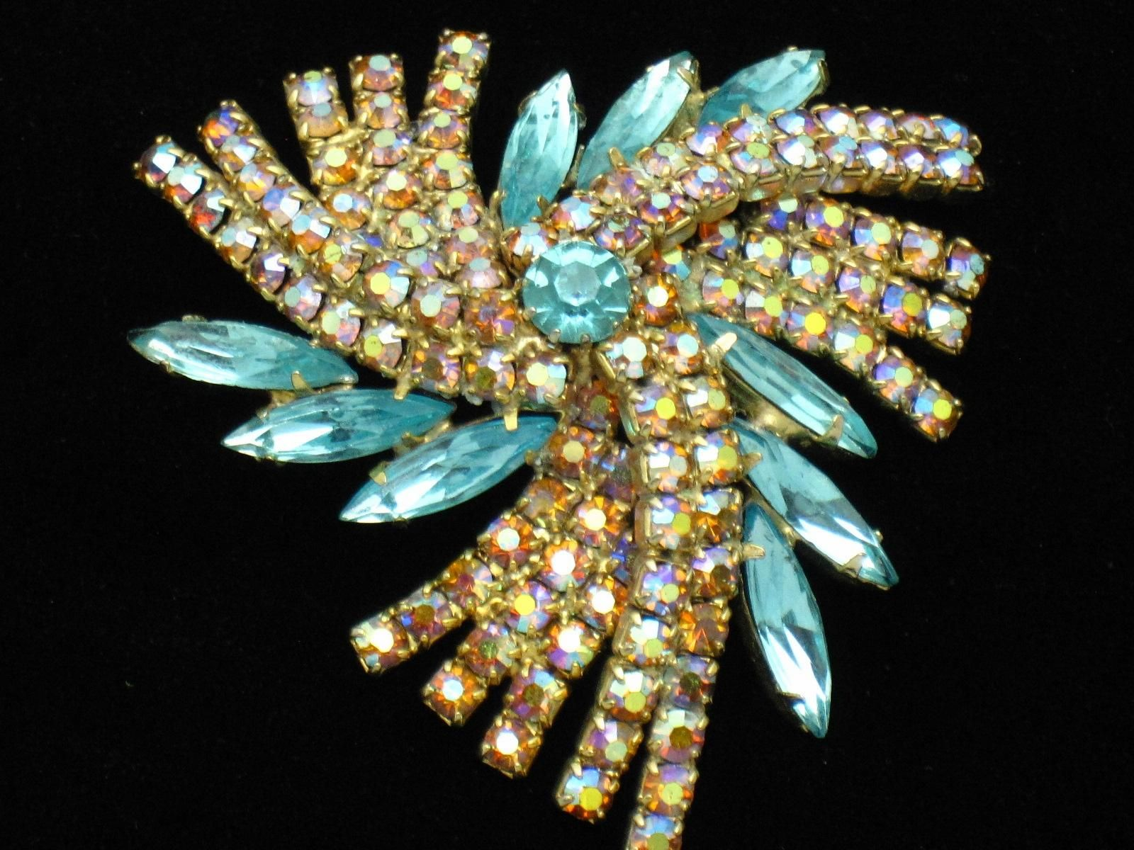 Jewellery & Watches Silver Brooch Costume Jewellery But Very Pretty Costume Jewellery