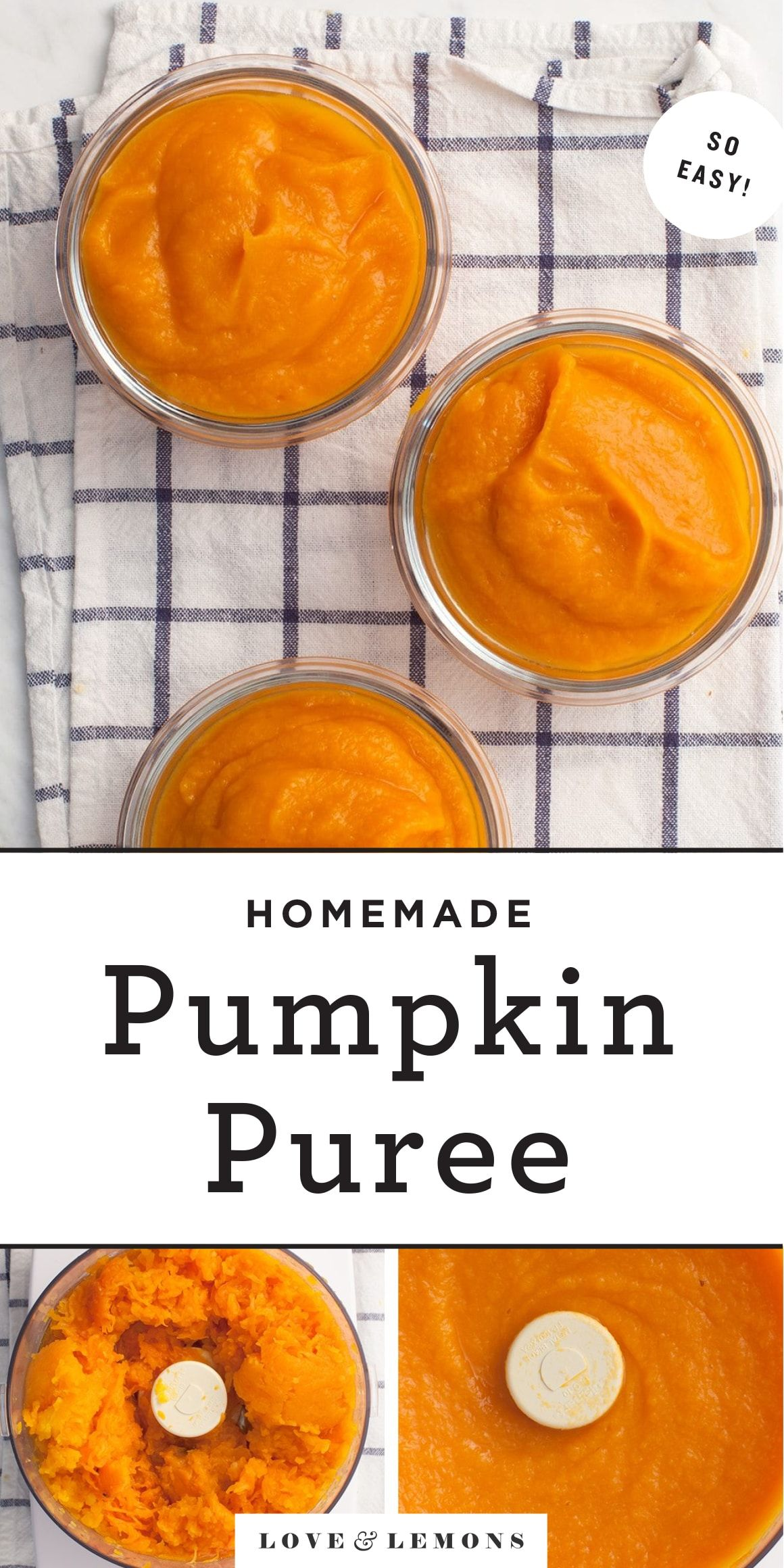 How To Make Pumpkin Puree Recipes By Love And Lemons In 2020 Pumpkin Puree Recipes Pureed Food Recipes Pumpkin Spice Recipe