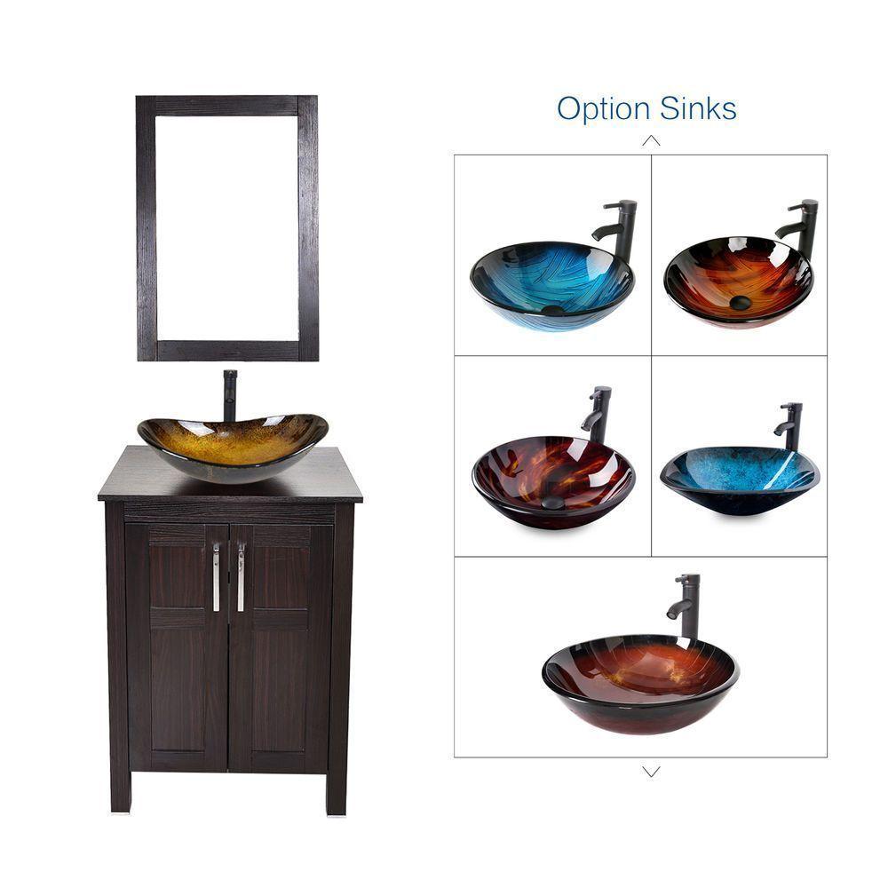 Bathroom Vanity Cabinet Top Sink Single Basin W Mirror Marble