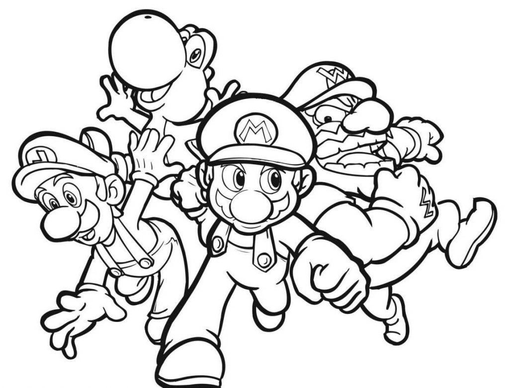 Coloring Pages For Boys Super Mario Coloring Pages Superhero