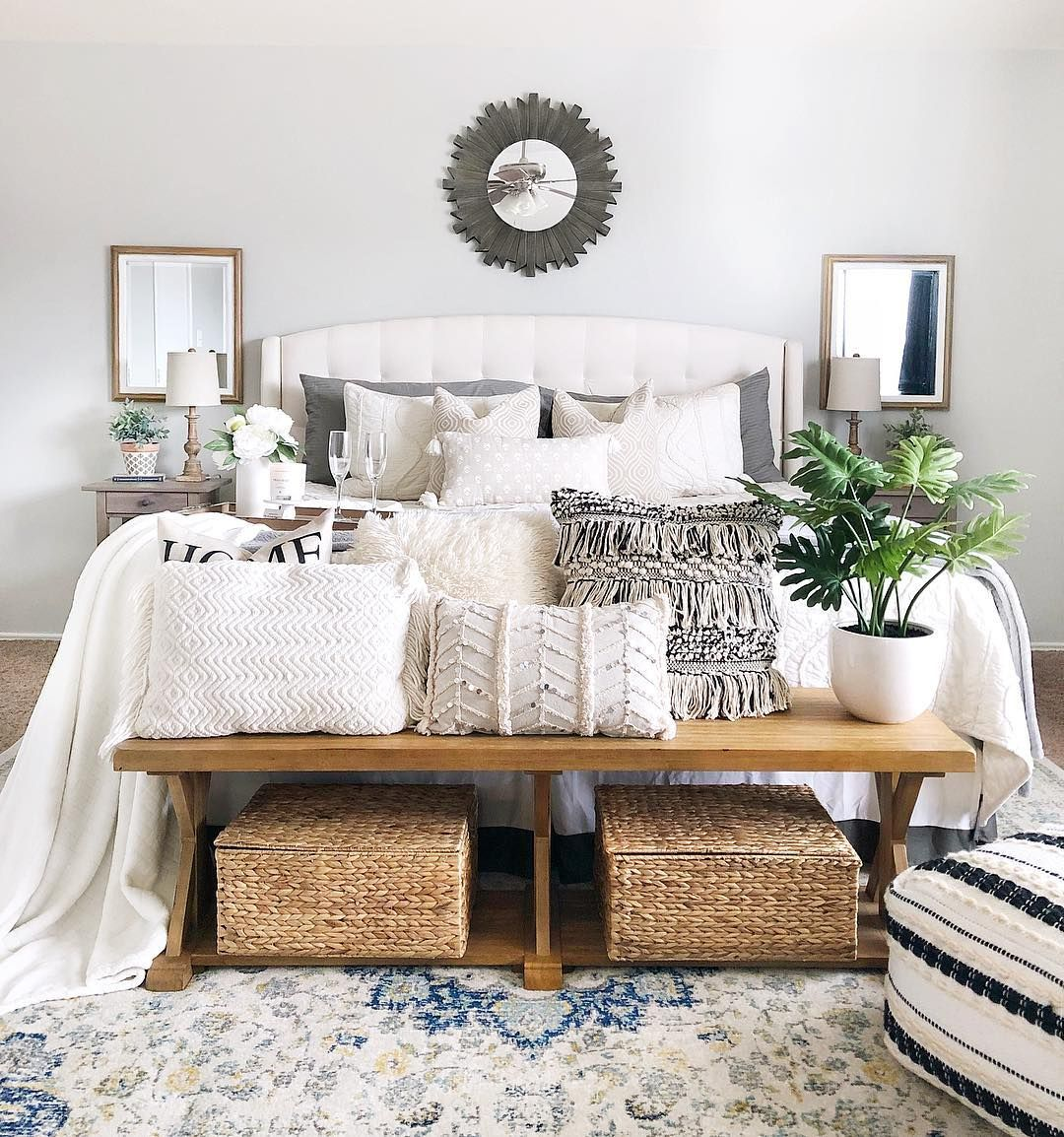 Stephanie On Instagram It S Been A Rough Week For Me And The Alarm Clock I Probably Need To Ma Boho Master Bedroom Home Decor Bedroom Boho Farmhouse Bedroom