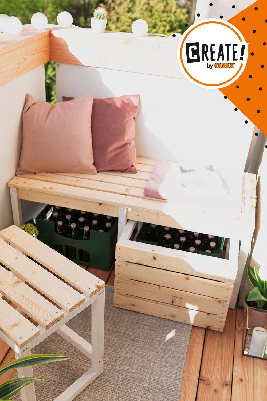 DIY Balkonbank selber bauen (Lasse, CREATE! by OBI)