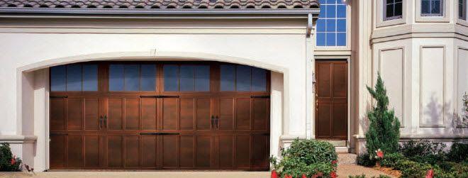 Carriage House Garage Door Combining The Beauty Of A Wood Carriage House Door With The Dura Carriage House Garage Doors Garage Door Design Carriage House Doors