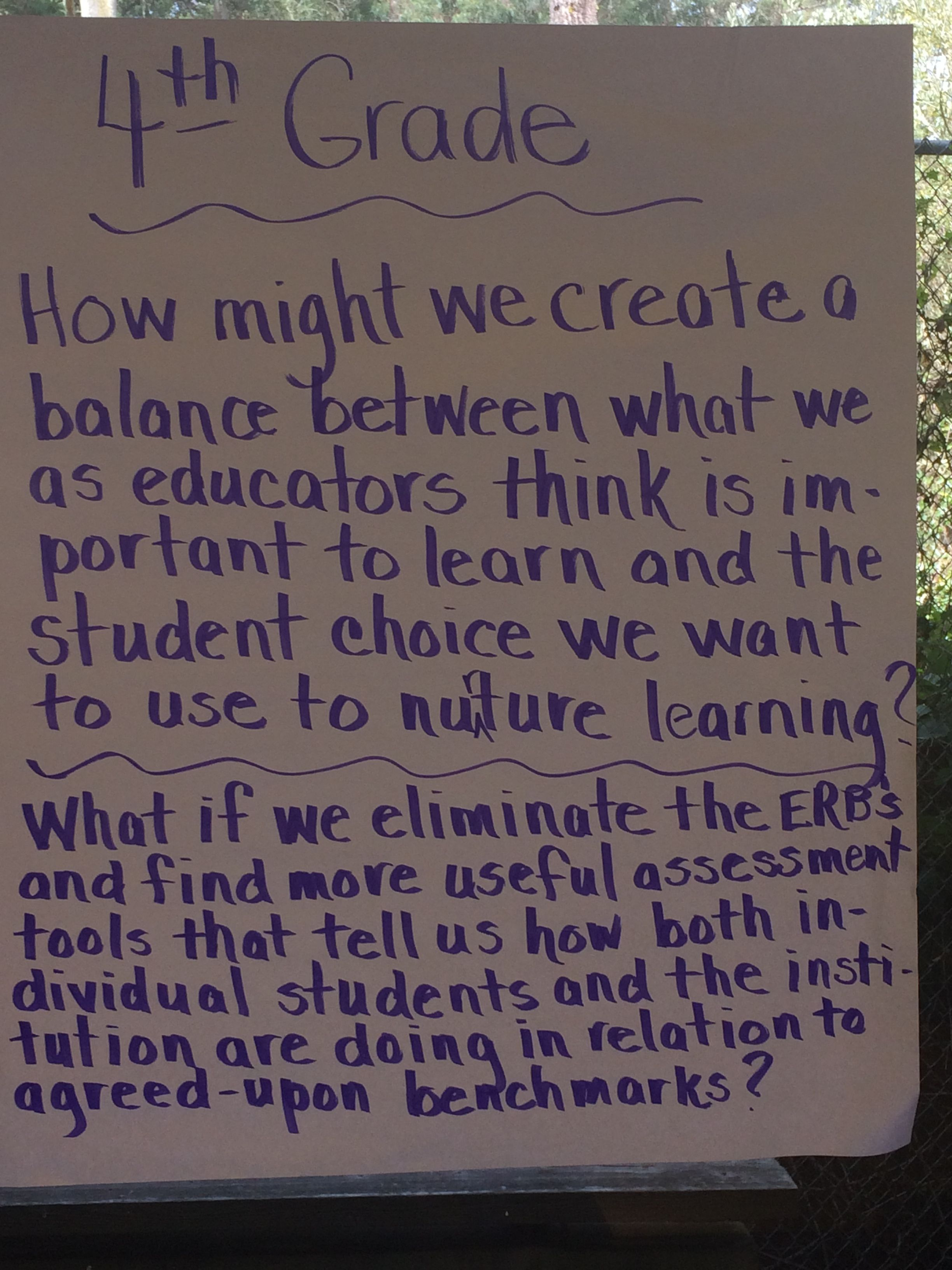 Questions From The 4th Grade Team