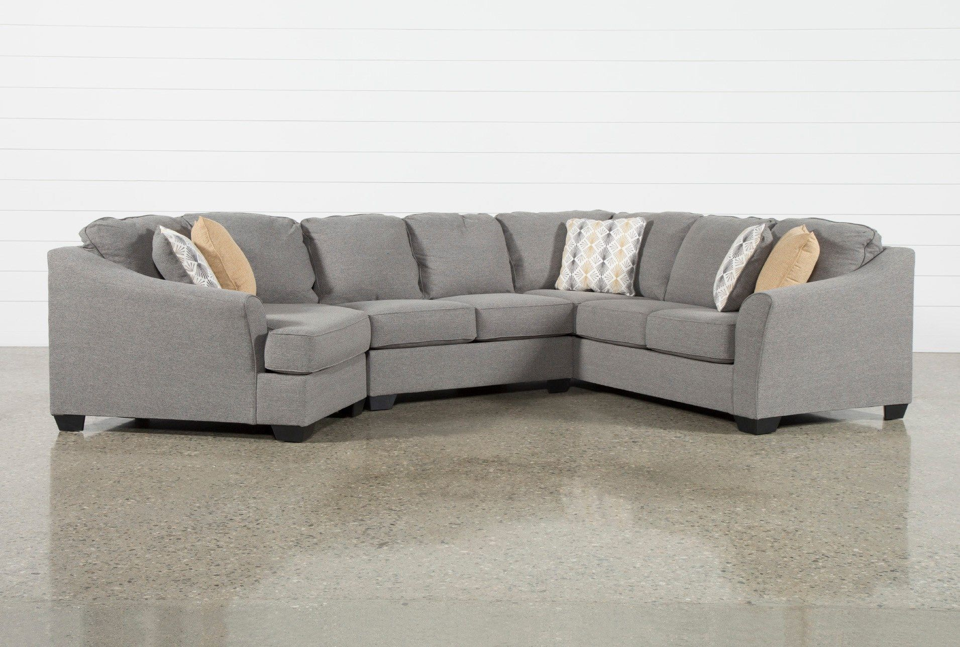Fenton 3 Piece Sectional With Left Arm Facing Cuddler 3 Piece