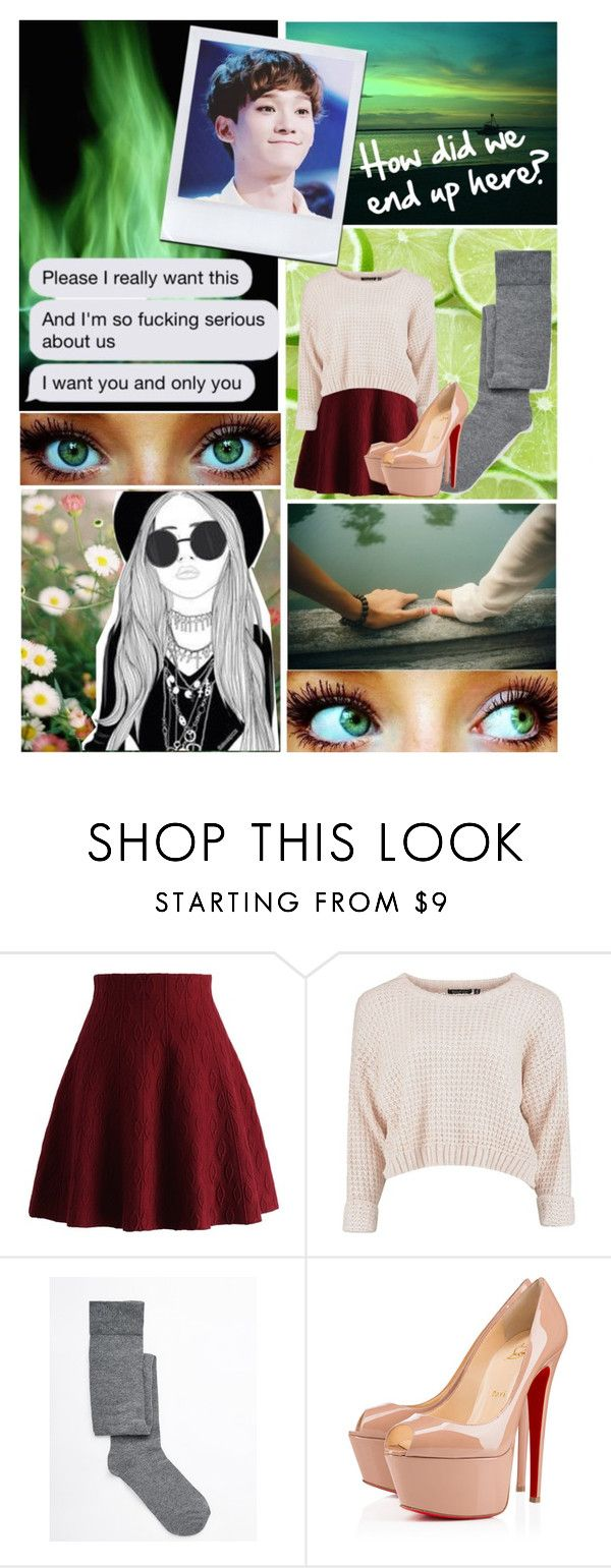 """""""•End Up Here~Chen•"""" by ish-fish ❤ liked on Polyvore featuring Younique, Chicwish, ASOS and Christian Louboutin"""