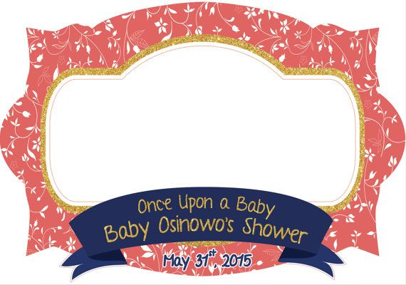 Photo Frame - Photo booth prop - Baby shower - printable frame - for ...