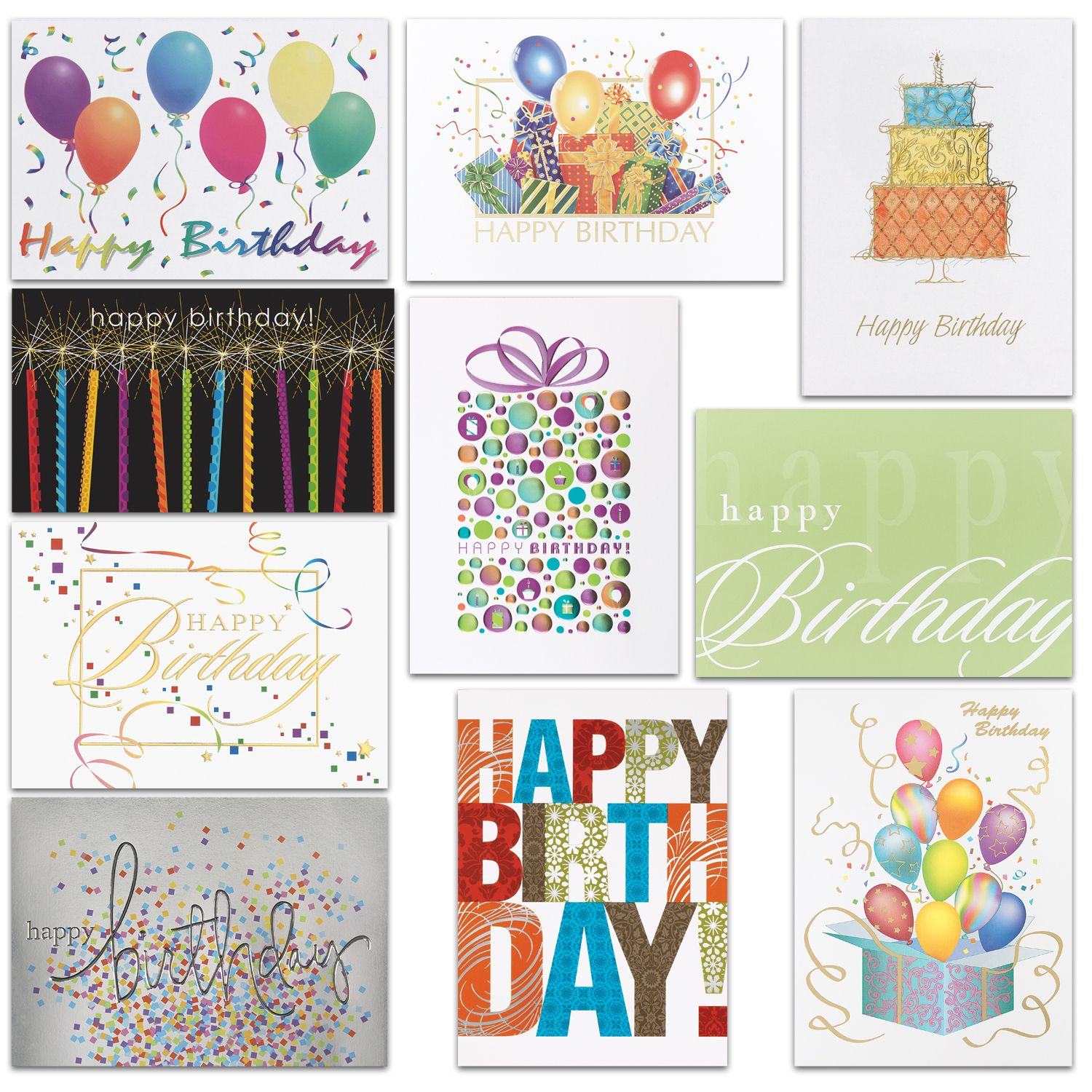 birthday assortment  100 cards with images  birthday