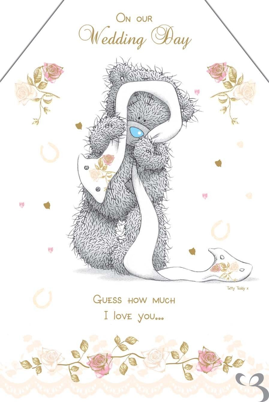Tatty Teddy Me To You Wedding Card Wedding Day I Love You Greetings Card