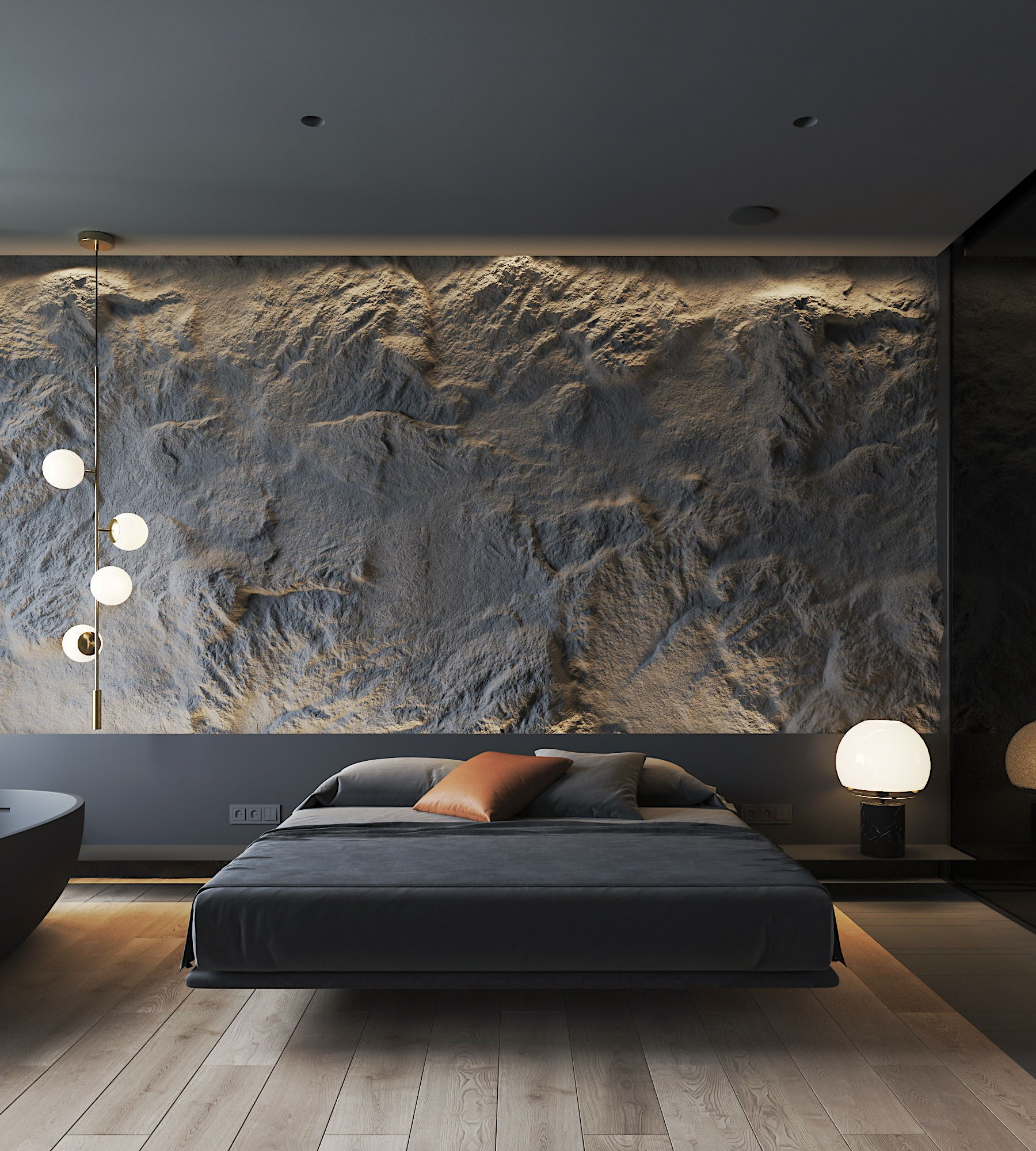 The Desire To Follow Style And The Passion To Find Comfort In One Place Luxurious Bedrooms Luxury Bedroom Design Dark Interiors Spacious and luxurious bedroom