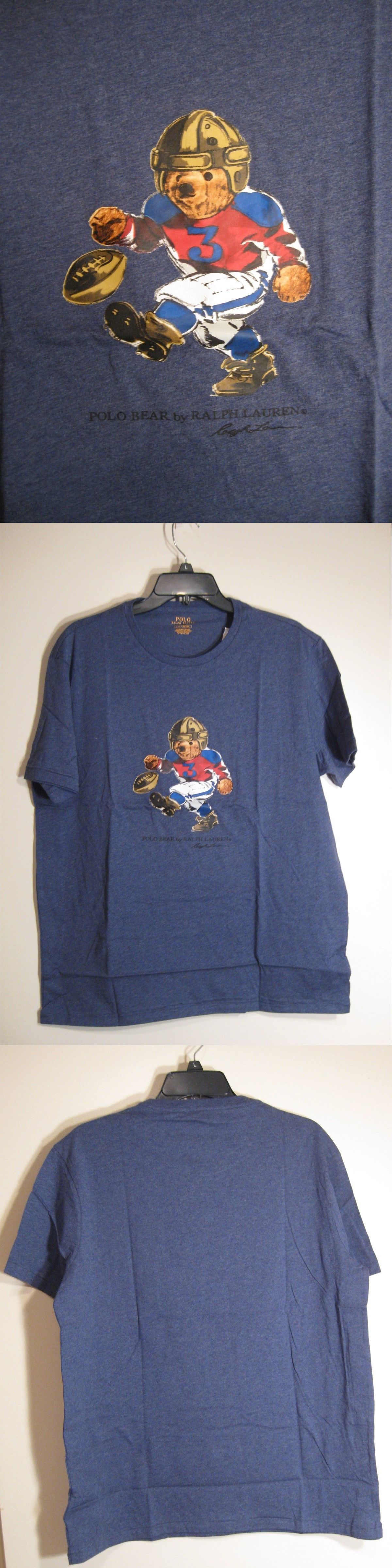 aa61920f T-Shirts 15687: Polo Ralph Lauren Limited Edition Polo Bear Tshirt Nwt  Football Player Blue -> BUY IT NOW ONLY: $59.95 on eBay!
