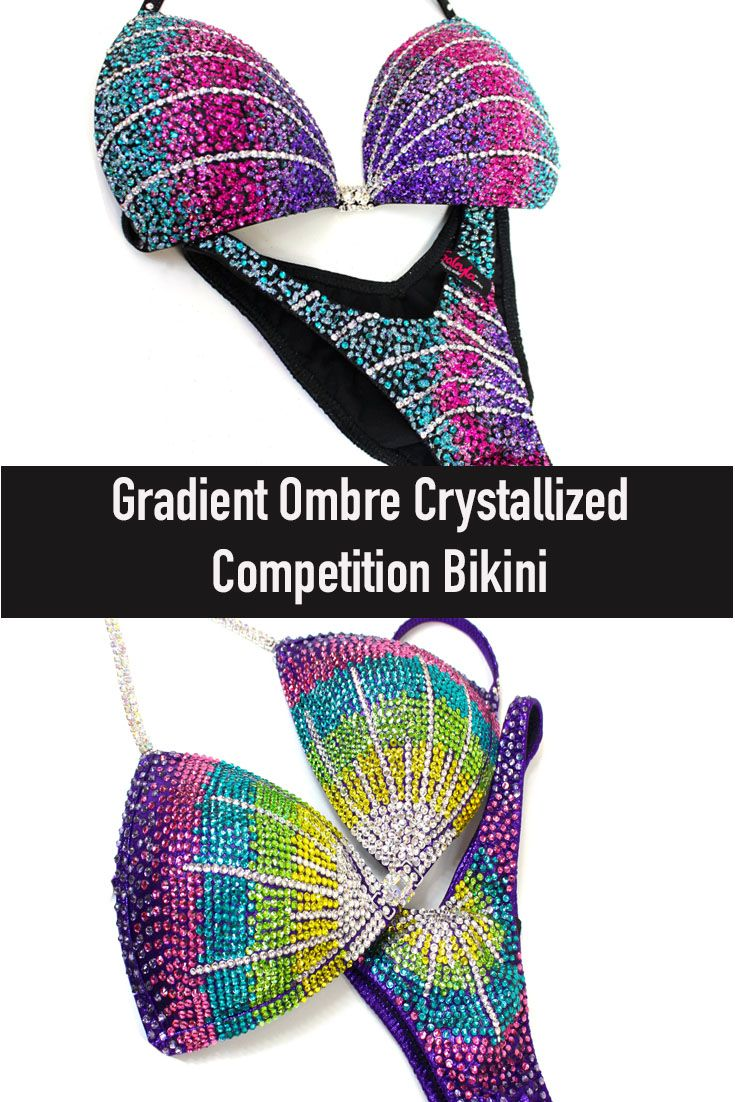 New Crystal Designs Gorgeous Gradient Competition Bikinis