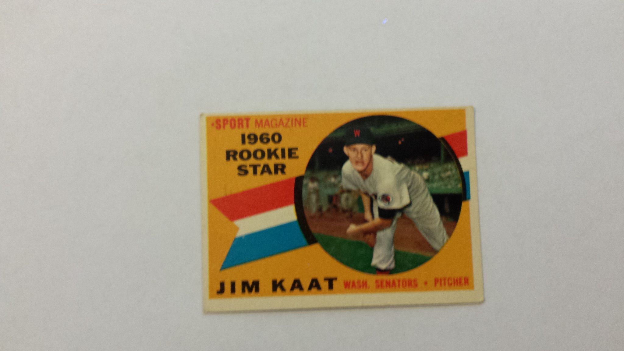 1960 Topps Jim Kaat single baseball rookie card