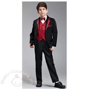 729a0cfff Boys Red Designer #Suit #Set | Baby Boy Clothes Online India | Ring ...