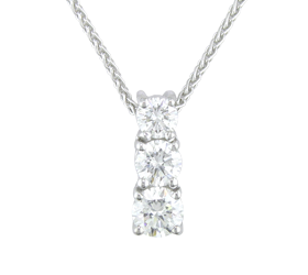 Diamond pendant 18ct white gold diamond trilogy pendant 099cts diamond pendant 18ct white gold diamond trilogy pendant 099cts fine diamonds audiocablefo