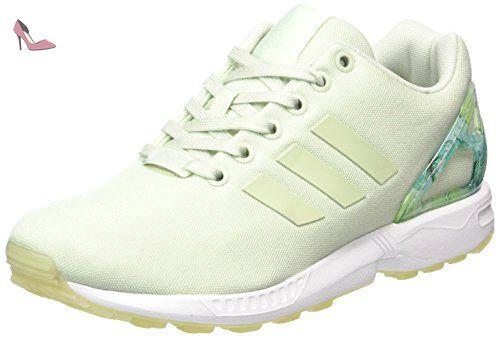 adidas Zx Flux, Baskets Basses Femme, Vert Linen Vert Linen Vert
