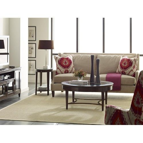 Kincaid Furniture Elise Transitional Oval End Table With Gl Top Becker World