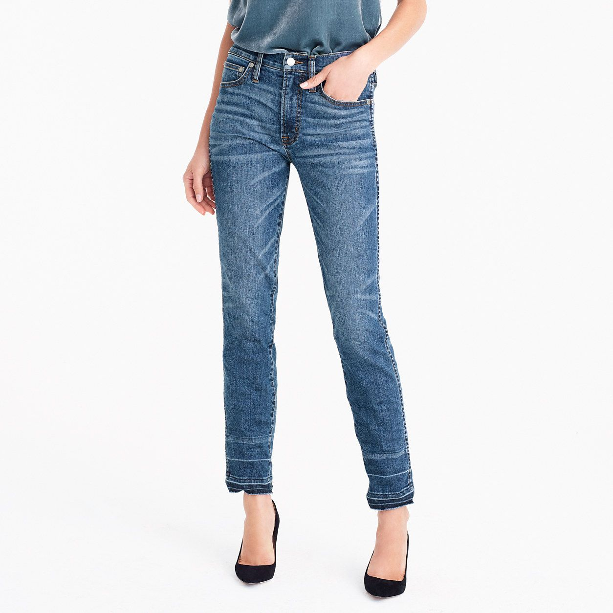 02a54db38f J.Crew Womens Vintage Straight Jean In Piccadilly Wash (Size 25 ...